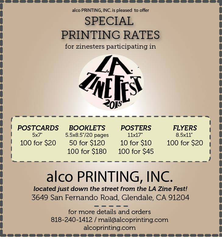 alco printing special rates